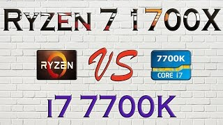 ryzen 7 1700x vs i7 7700k benchmarks gaming tests review and comparison ryzen vs kaby lake