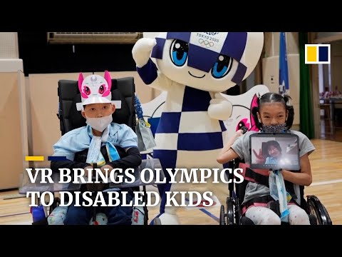 Virtual reality technology brings Olympic Games to Tokyo's disabled children