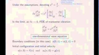 Mod-08 Lec-35 Separation of Variables in PDE's, Hyperbolic Equations