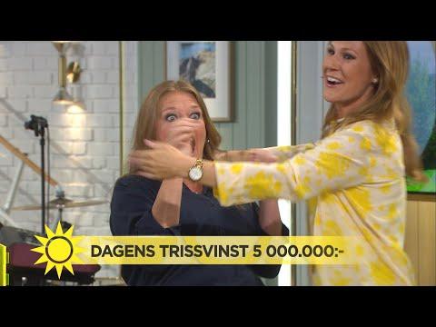 VRÅÅÅLET i studion – vinner 5 miljoner på Triss! - Nyhetsmorgon (TV4)