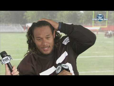 Danny Shelton 1-on-1 interview with Jim Donovan | BROWNS TRAINING CAMP