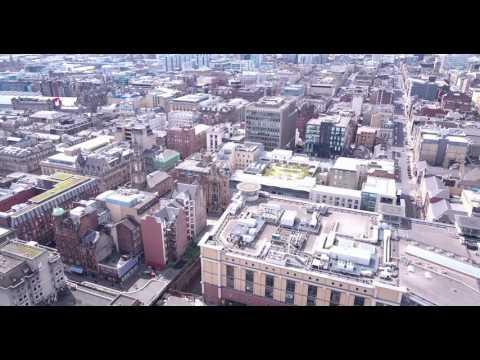 Glasgow City Centre Drone Footage 4k