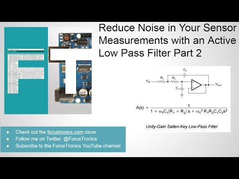 46352de197b Reduce Noise in Your Sensor Measurements with an Active Low Pass Filter  Part 2 - YouTube