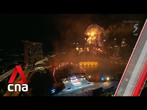 NDP 2021: Fireworks at Marina Bay for Singapore's National Day Parade