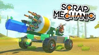 ВОСЬМИСТВОЛЬНЫЙ КАРТОШКАМЕТ! | Scrap Mechanic (Update 0.3.0)