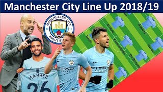 MANCHESTER CITY Potential Lineup 201819 with Mahrez|Manchester City Squad 2018/19