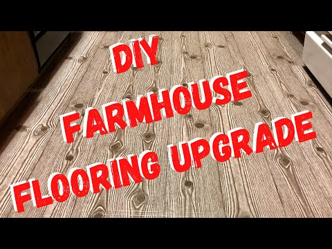 FARMHOUSE FLOORING MAKEOVER | DIY TARGET RENTAL FRIENDLY UPGRADE | INEXPENSIVE ROOM  DECOR