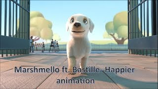Marshmello ft. Bastille - Happier Animation music video (Unofficial Music Video)