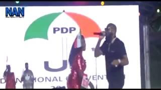 Sani Danja, Davido perform at PDP convention in Port Harcourt