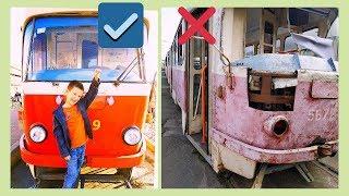 В 6 лет управляет ТРАМВАЕМ!?Тима в кабине водителя?!Где стоят трамваи?Видео для детей про трамваи