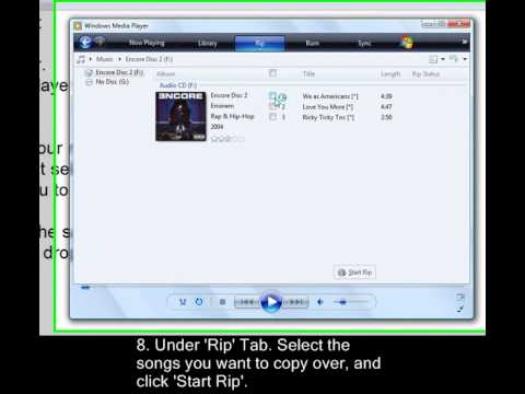How to Copy a CD to your Computer and be able to transfer it to Music player