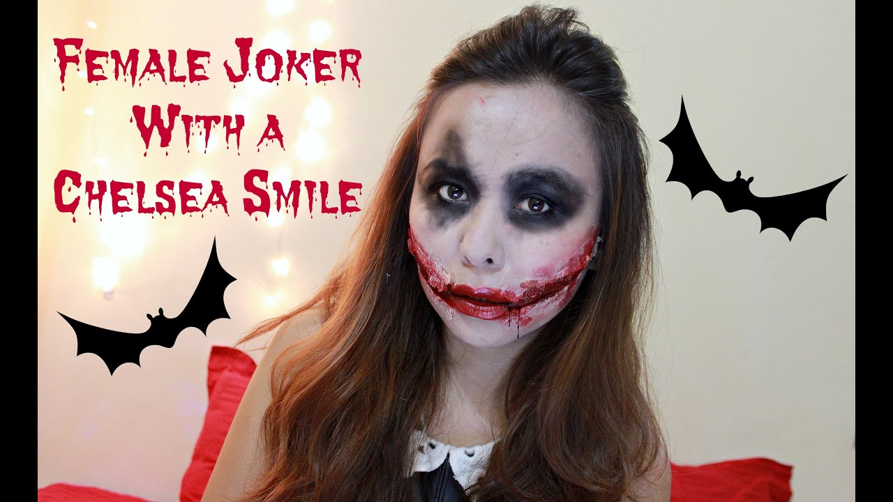 Easy Dark Knight Joker Makeup | DIY Chelsea Smile | Halloween ...