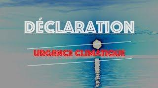 Déclaration d'urgence climatique – Extrait 2