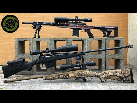 308 vs 6.5 Creedmoor vs 338 Lapua vs Concrete Blocks