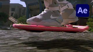 Erstellen Sie ein Zurück in Die Zukunft Hoverboard-Effekt in After Effects Tutorial