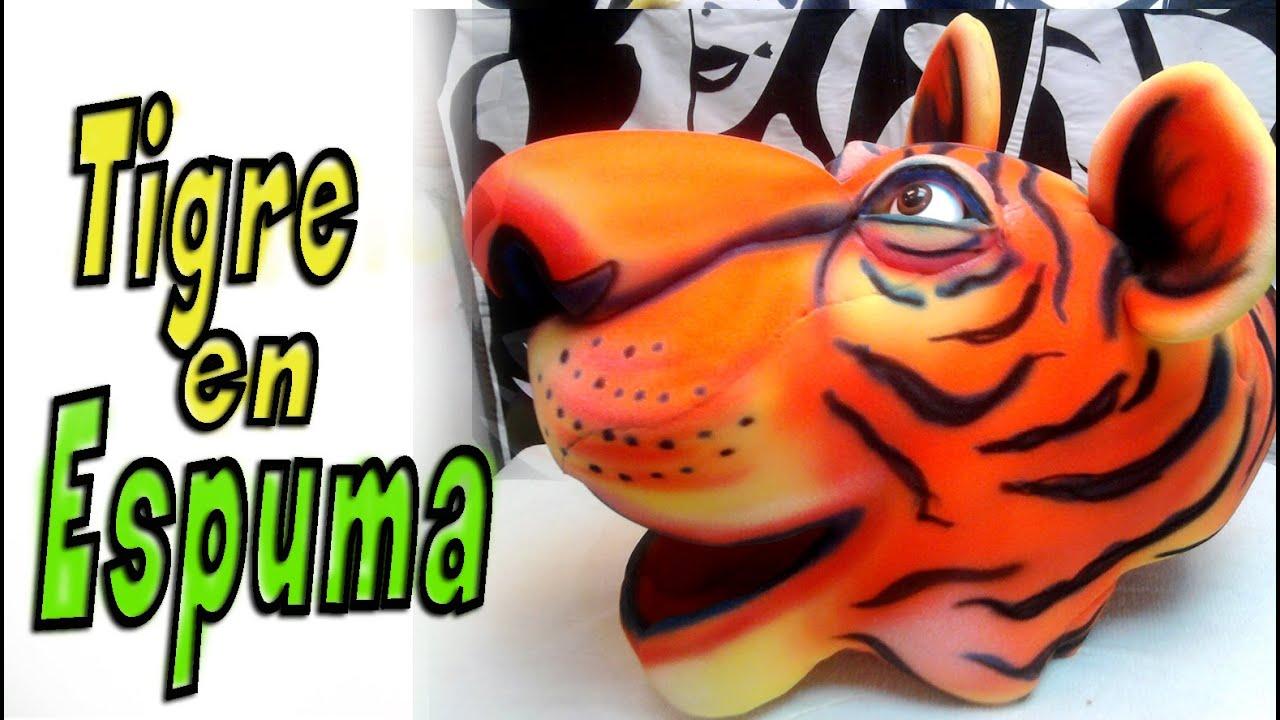 Download gorros de goma espuma - Tigre en goma espuma - Tiger foam -tiger mask