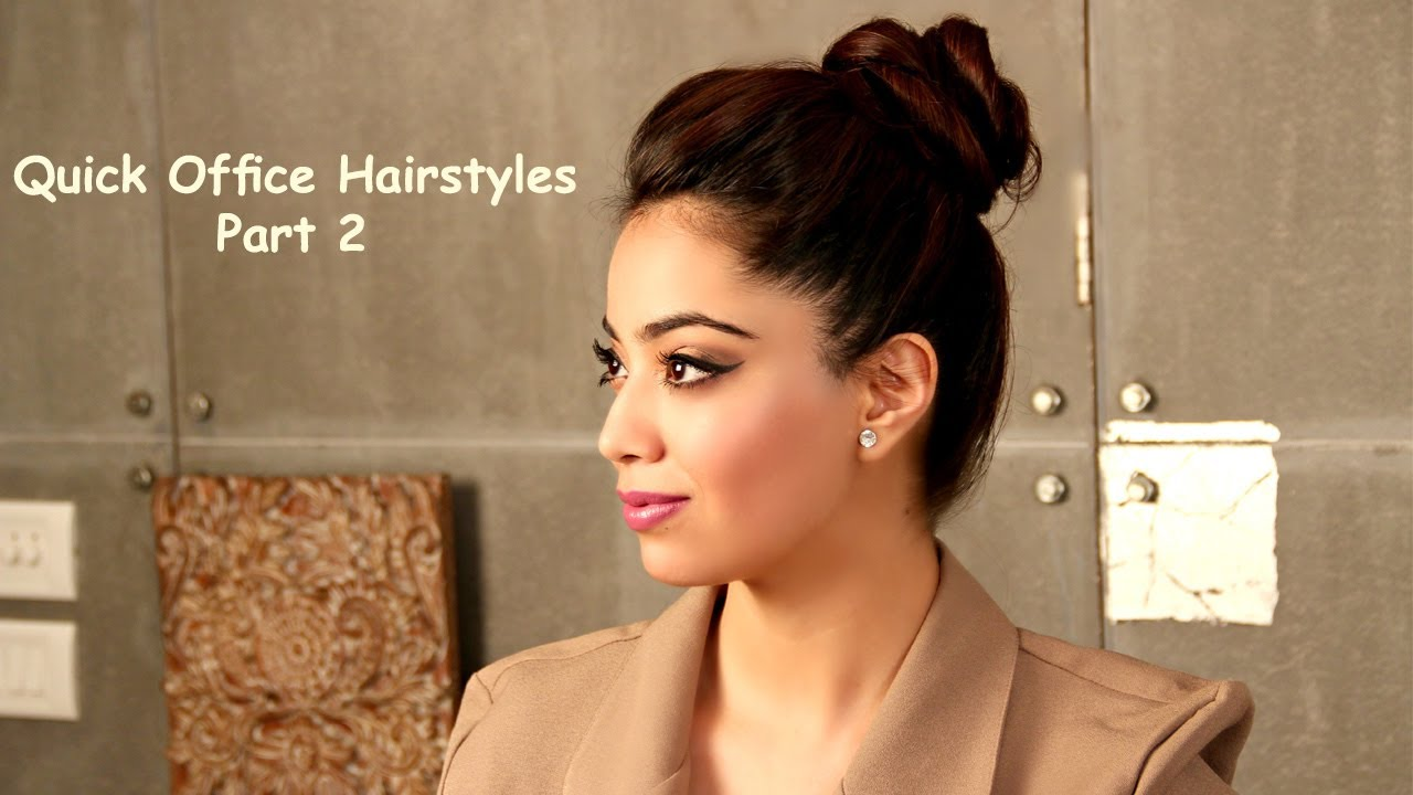 fomo : quick office hairstyles - part 2 (hindi) - youtube
