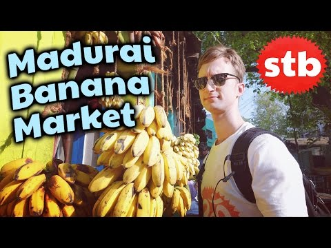 Things to Do in Madurai // Madurai Banana Fruit Market Travel Tour in Tamil Nadu, India