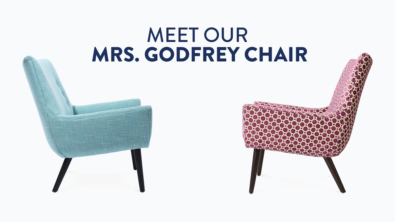 Mrs. Godfrey Chair By Jonathan Adler | A Modern Small Space Savior
