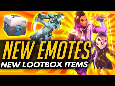 Overwatch | NEW EMOTES - DEFAULT LOOTBOX ITEMS + Seagull & Effect on Dallas Fuel Loss