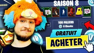 I'm BUYING the COMBAT PASS OF SAISON 8 IN ENTIER ON FORTNITE BATTLE ROYALE!