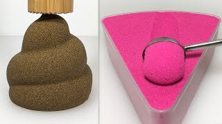 Very Satisfying and Relaxing Compilation 151 Kinetic Sand ASMR