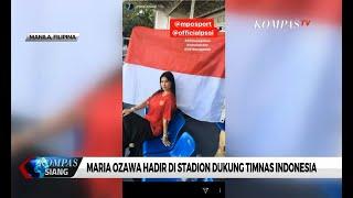 Gaya Maria Ozawa Dukung Timnas Indonesia di Sea Games 2019