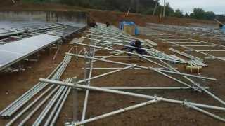 産業用太陽光発電 野立て Qセルズ 群馬県前橋市にて建設中!