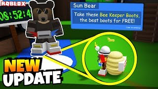 *NEW* CODES + HOW TO GET *NEW* BEE KEEPERS BOOTS FREE! (Roblox Bee Swarm Simulator)
