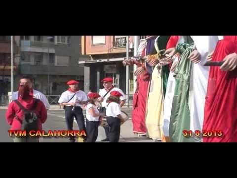 TVM CALAHORRA 31 8 2013 SALIDA DE LA CORPORACION Y RECEPCION DE AUTORIDADES