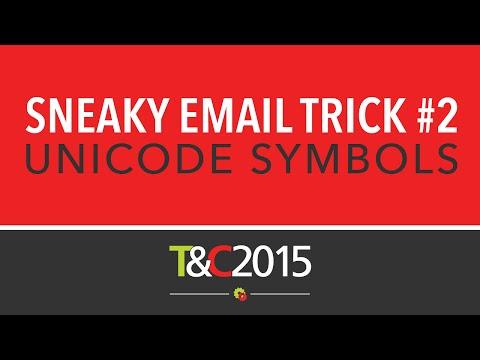 Email Marketing Tips - Unicode Symbols