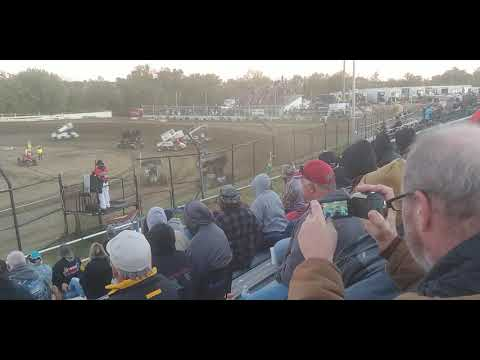 ASCS Sprint Cars, Heat 3, Creek County Speedway 10/12/19