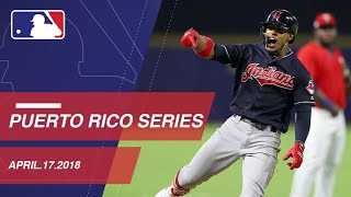 Lindor, Tribe cruise to a 6-1 win in Puerto Rico