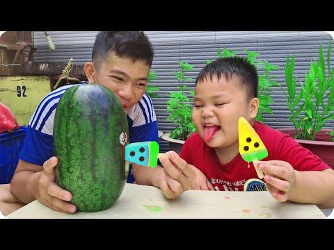 Bạn Pin A Kiệt Dưa Hấu – Trò Chơi Ice Cream Watermelon ❤ ChiChi ToysReview TV ❤ Đồ Ăn Kem Màu Sắc