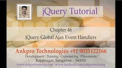 jQuery 46 - Ajax 3 - Global Ajax Event Handlers