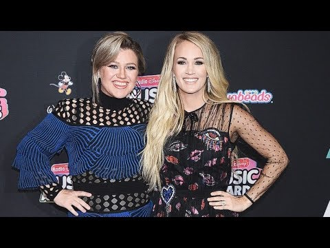 Kelly Clarkson & Carrie Underwood | Together At Radio Disney Music Awards Red Carpet 2018! (HD)