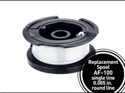 Black & Decker How to Change a String Trimmer Replacement Spool
