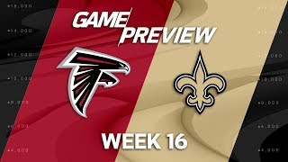 Atlanta Falcons vs. New Orleans Saints | NFL Week 16 Game Preview | Move the Sticks