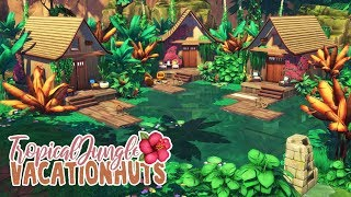 Tropical Vacation Huts рџЊє || The Sims 4 Jungle Adventure: Speed Build