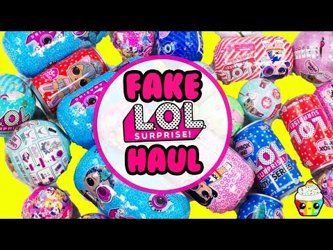 FAKE LOL Surprise HAUL Boy LOLs, MLP, Sparkly Critters Cans, Glam Glitters, Glitter Series