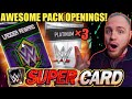 OPENING 3 PLATINUM PACKS FROM TBG + FEMALE WM34 LADDER REWARD! Noology WWE SuperCard Season 4!