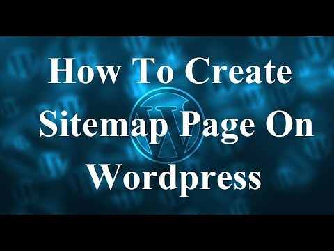 wordpress how to create sitemap page on wordpress hueman theme youtube