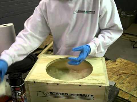 sealed subwoofer box insulation 1