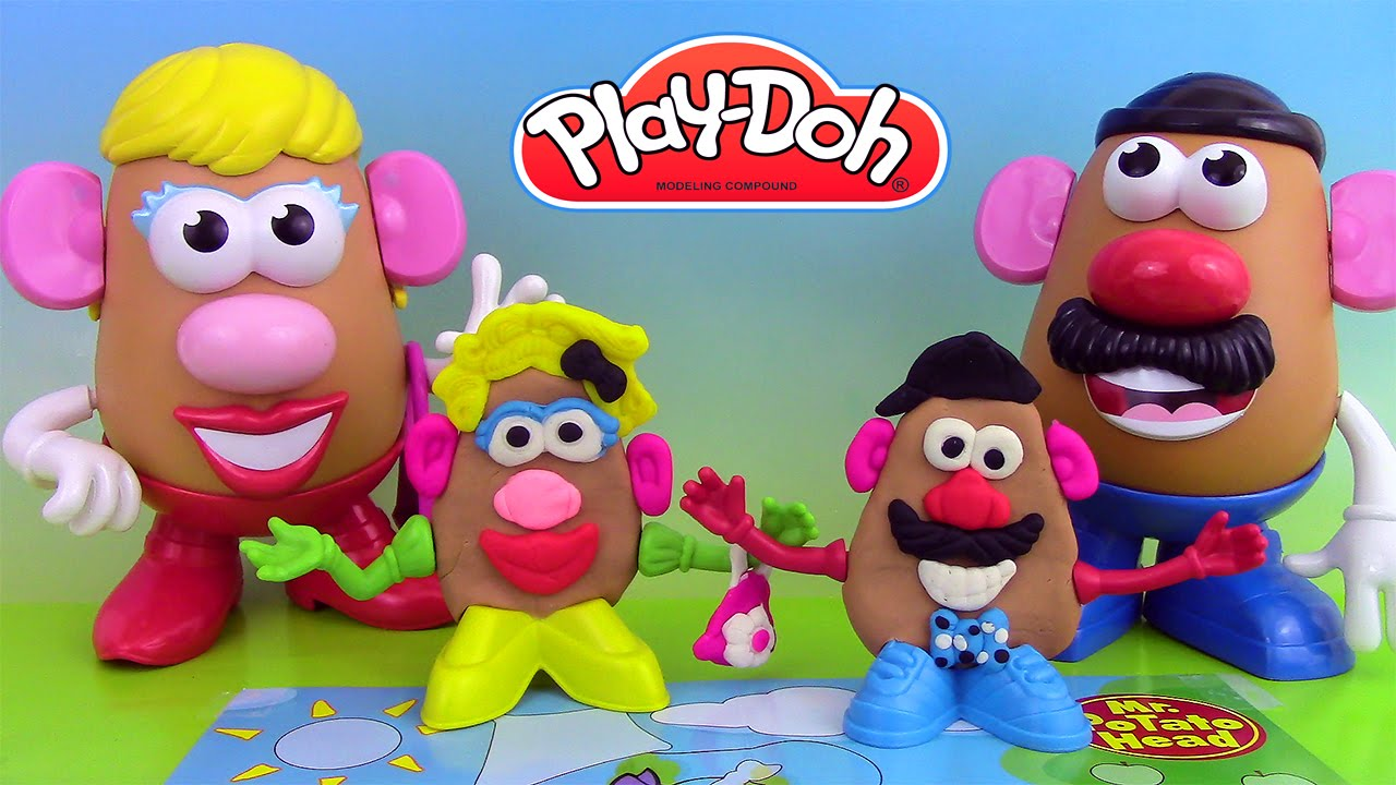 p te modeler play doh mr potato head mr patate coiffeur jouets play doh toy story youtube. Black Bedroom Furniture Sets. Home Design Ideas