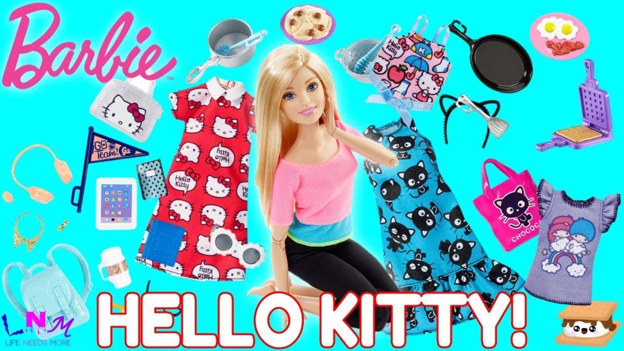 Barbie 2018 Fashionistas Hello Kitty Red Blue T Shirt CURVY TALL PETITE REGULAR