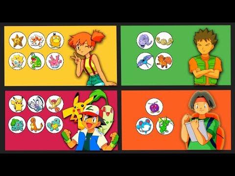 Brock, Misty & Tracey's Pokemon (Including Ash Ketchum)
