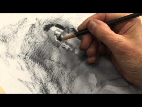 Full Figure Charcoal Drawing Tutorial Demo incl. Portrait Drawing Demo by Steve Carpenter