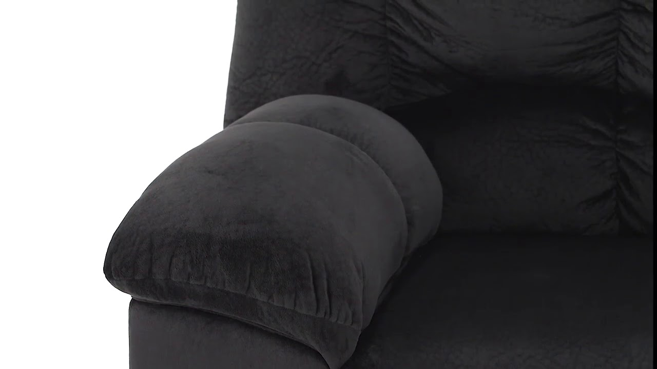 Julson Ebony Loveseat From Signature Design By Ashley Youtube