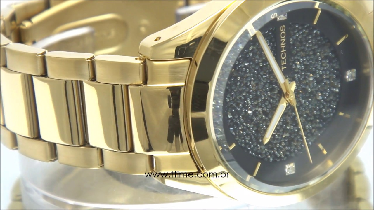 35ea5804c4167 RELÓGIO TECHNOS CRYSTAL SWAROVSKI - YouTube