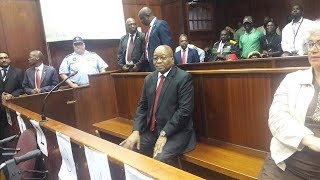 Former South African President Jacob Zuma Docked For Corruption Charges